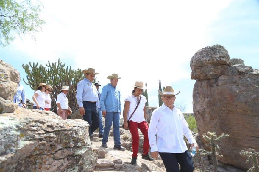 Inauguración de la zona arqueológica de Arroyo Seco