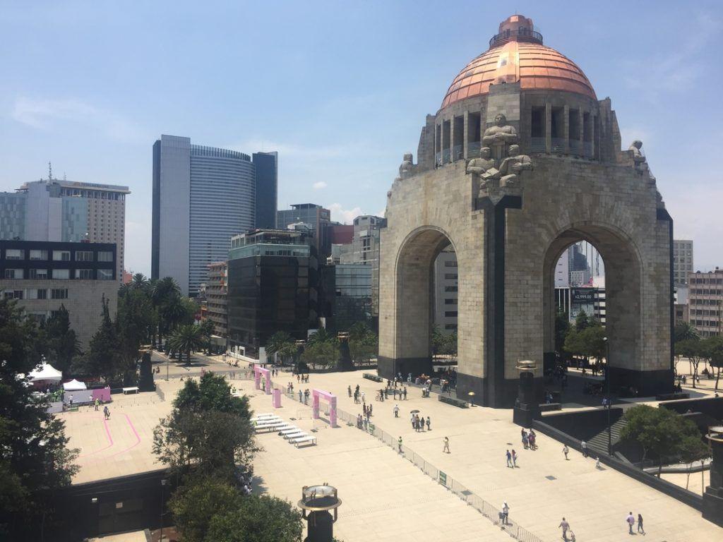 Plaza de la República desde la terraza del Frontón México