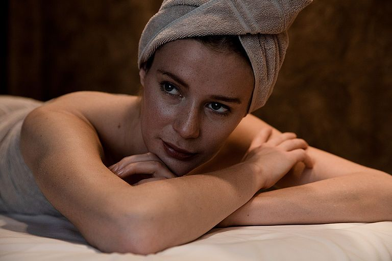Modelo en un spa